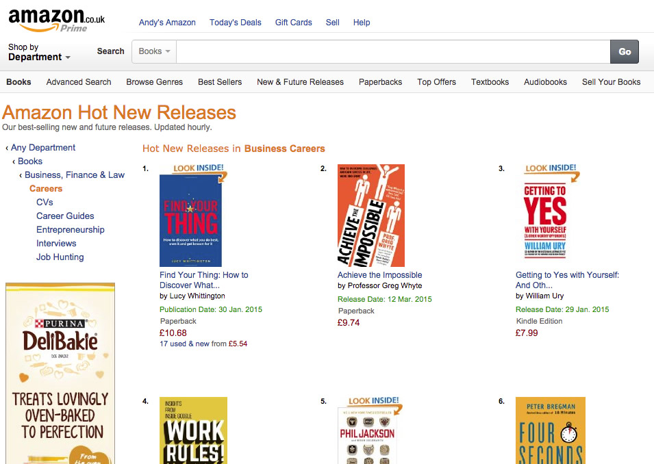 Amazon Hot New Releases Career Books